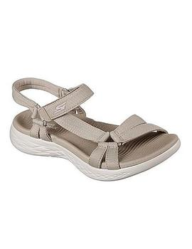 Sandalias Mujer Skechers On The Go Beige
